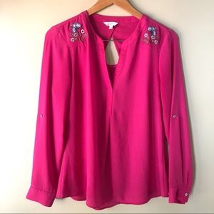 Candie's Embroidered Blouse